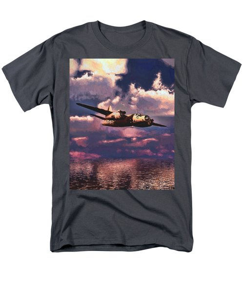 Shark On The Prowl Men's T-Shirt  (Regular Fit) by Dave Luebbert