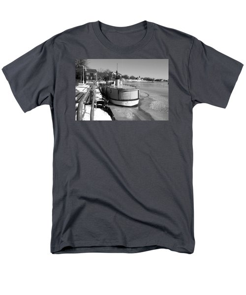 Men's T-Shirt  (Regular Fit) featuring the photograph Sheboygan Riverwalk No.1,sheboygan Riverwalk No.5379ssheboygan Riverwalk No.1,sheboygan Riverwalk No by Janice Adomeit