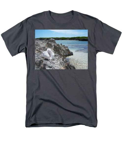 Shell On Dominican Shore Men's T-Shirt  (Regular Fit) by Heather Kirk