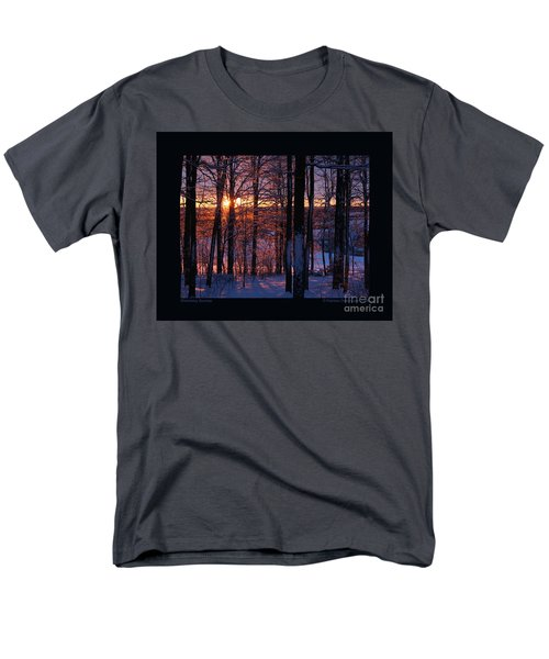 Shimmery Sunrise Men's T-Shirt  (Regular Fit) by Patricia Overmoyer