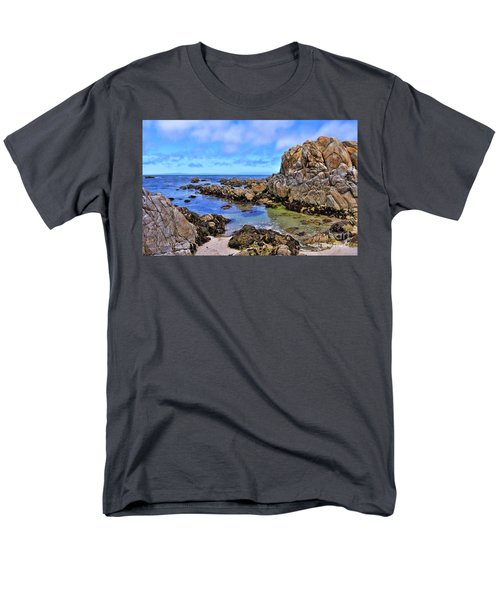 Shores Of Pacific Grove  Men's T-Shirt  (Regular Fit) by Gina Savage
