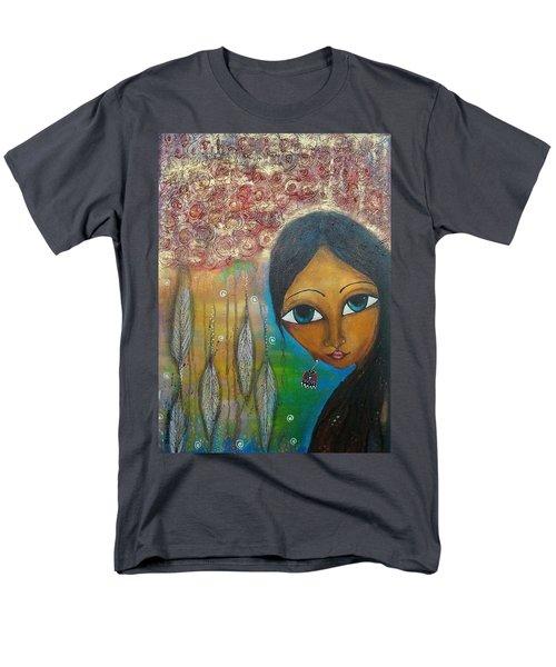 Shower Of Roses Men's T-Shirt  (Regular Fit) by Prerna Poojara
