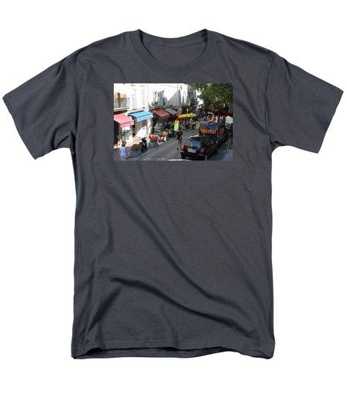 Sidewalk Cafes Men's T-Shirt  (Regular Fit) by Allan Levin