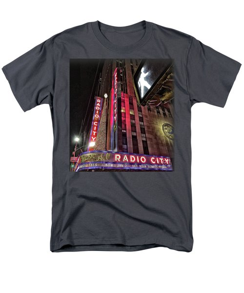 Men's T-Shirt  (Regular Fit) featuring the photograph Sights In New York City - Radio City by Walt Foegelle