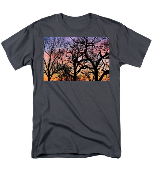 Men's T-Shirt  (Regular Fit) featuring the photograph Silhouettes At Sunset by Chris Berry