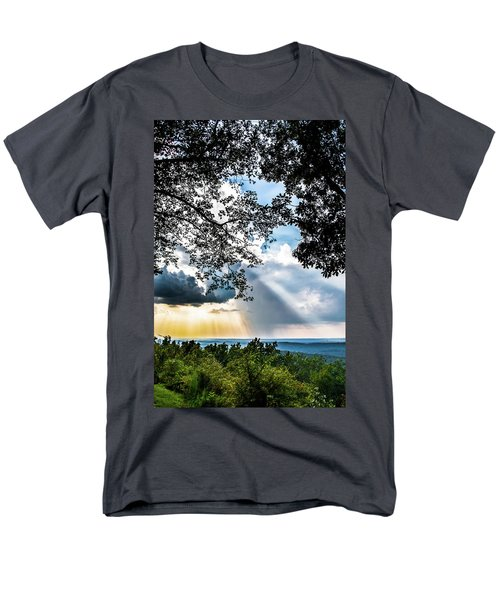 Men's T-Shirt  (Regular Fit) featuring the photograph Silhouettes At The Overlook by Shelby Young