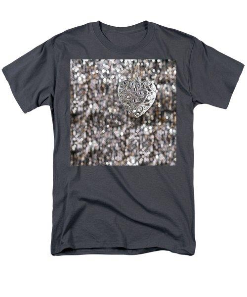Men's T-Shirt  (Regular Fit) featuring the photograph Silver Heart by Ulrich Schade