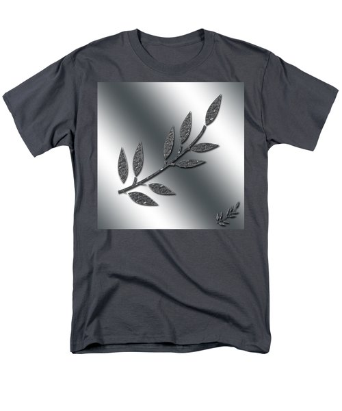 Silver Leaves Abstract Men's T-Shirt  (Regular Fit) by Aimee L Maher Photography and Art Visit ALMGallerydotcom