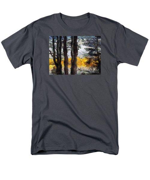 Simulated Van Gogh Scene Men's T-Shirt  (Regular Fit) by Craig Walters