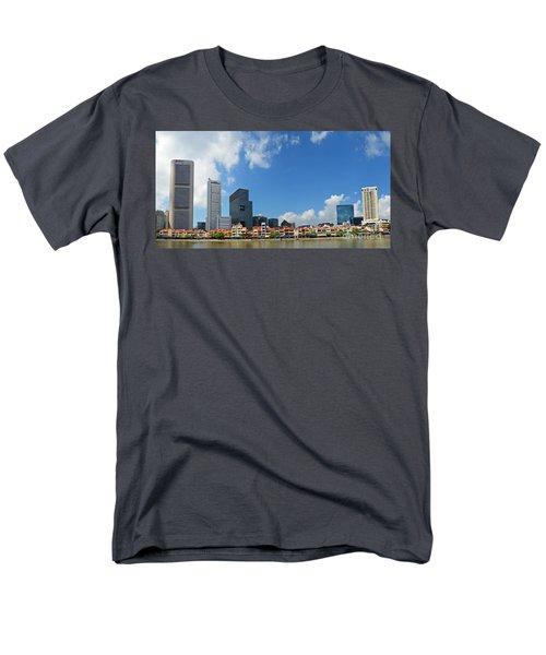 Singapore River Front Men's T-Shirt  (Regular Fit)