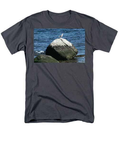 Men's T-Shirt  (Regular Fit) featuring the digital art Singing Seagull by Barbara S Nickerson