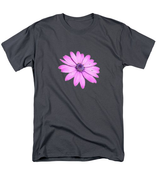 Single Pink African Daisy Men's T-Shirt  (Regular Fit) by Tracey Harrington-Simpson