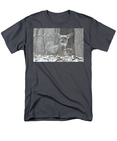 Men's T-Shirt  (Regular Fit) featuring the photograph Sitting Out The Storm by Michael Peychich