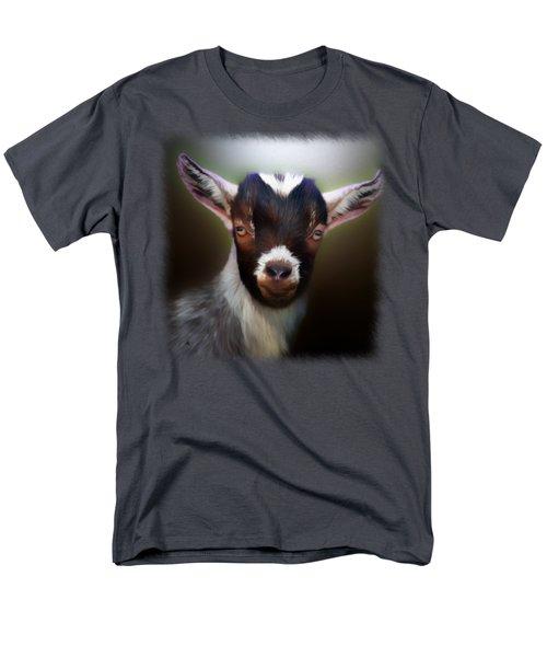 Skippy - Goat Portrait Men's T-Shirt  (Regular Fit) by Linda Koelbel
