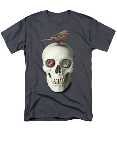 Skull And Bird Men's T-Shirt  (Regular Fit) by Ivana Westin