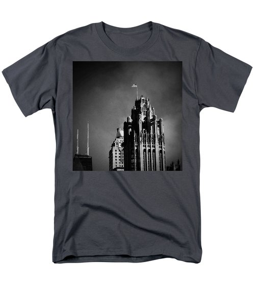 Skyscrapers Then And Now Men's T-Shirt  (Regular Fit) by Frank J Casella