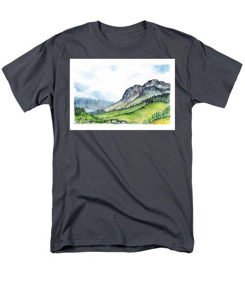 Men's T-Shirt  (Regular Fit) featuring the painting Sleeping Valley by Heidi Kriel