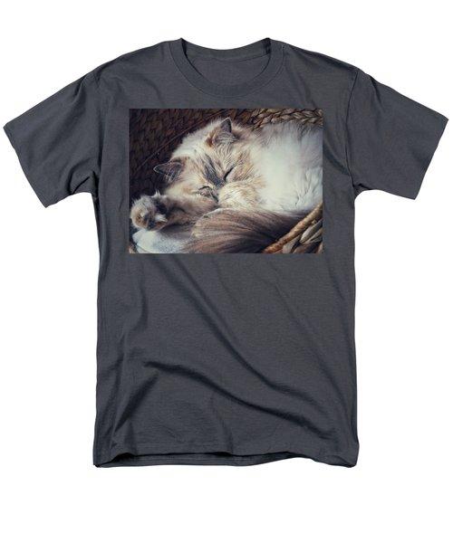 Men's T-Shirt  (Regular Fit) featuring the photograph Sleepy Kitty by Karen Stahlros