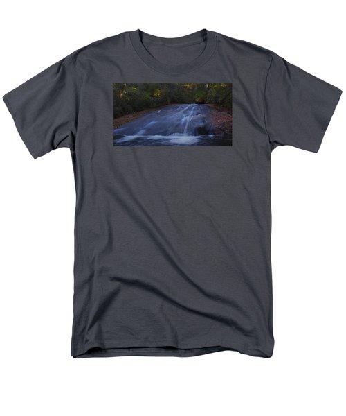 Men's T-Shirt  (Regular Fit) featuring the photograph Sliding Rock Falls by Ellen Heaverlo