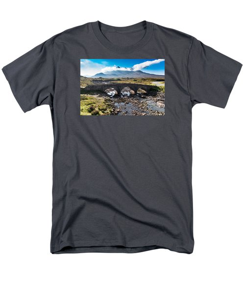 Men's T-Shirt  (Regular Fit) featuring the photograph Skye Cuillin From Sligachan by Gary Eason