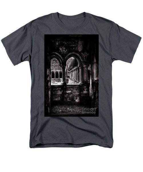 Men's T-Shirt  (Regular Fit) featuring the photograph Sligo Abbey Interior Bw by RicardMN Photography