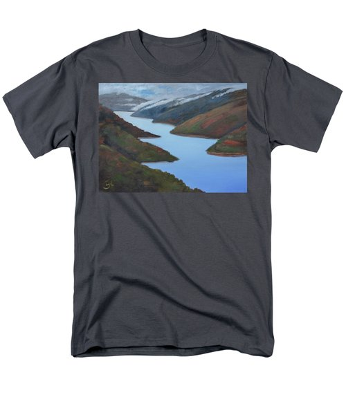Sliver Of Crystal Springs Men's T-Shirt  (Regular Fit) by Gary Coleman