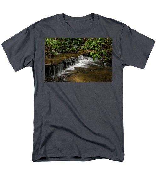 Small Cascade On Pounder Branch. Men's T-Shirt  (Regular Fit) by Ulrich Burkhalter