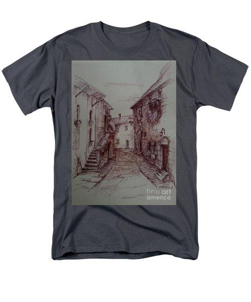 Small Town Drawing Men's T-Shirt  (Regular Fit) by Maja Sokolowska