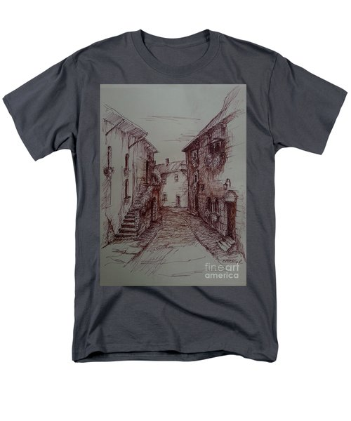 Small Town Drawing Men's T-Shirt  (Regular Fit)