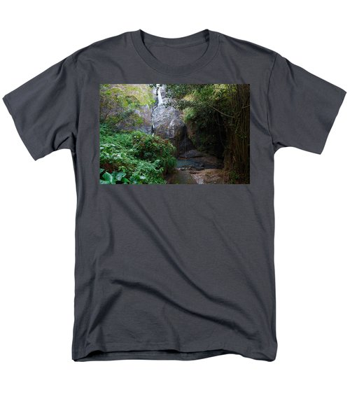 Men's T-Shirt  (Regular Fit) featuring the photograph Small Waterfall by Ricardo J Ruiz de Porras