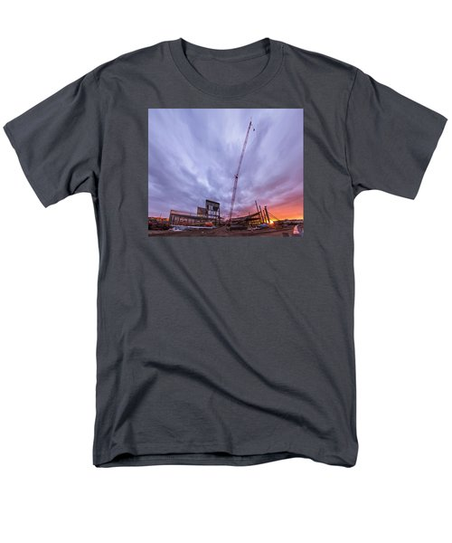 Smart Financial Centre Construction Sunset Sugar Land Texas 10 26 2015 Men's T-Shirt  (Regular Fit) by Micah Goff