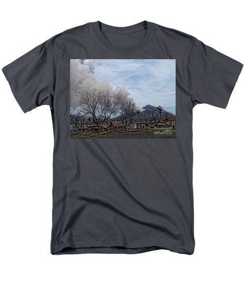 Men's T-Shirt  (Regular Fit) featuring the photograph Smoking Volcano by Trena Mara