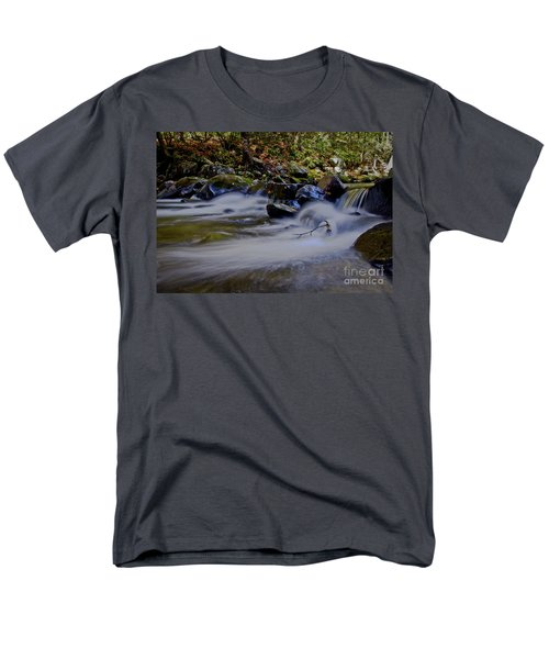 Men's T-Shirt  (Regular Fit) featuring the photograph Smoky Mountain Stream by Douglas Stucky