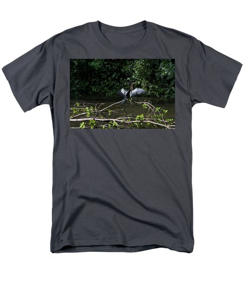 Snake Bird Perching Men's T-Shirt  (Regular Fit) by James David Phenicie