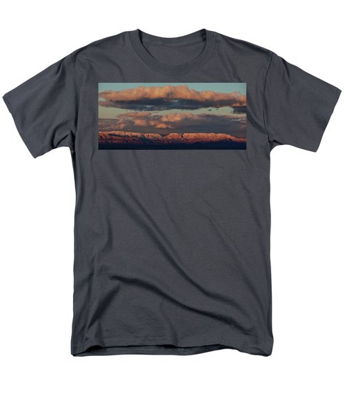 Snow Covered Red Rock Panorama Men's T-Shirt  (Regular Fit) by Ron Chilston