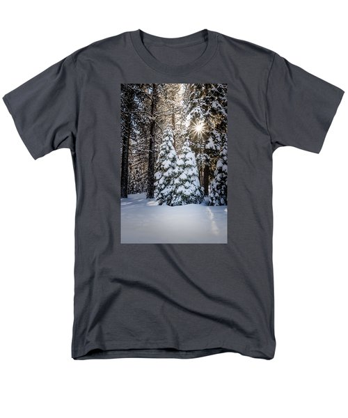 Men's T-Shirt  (Regular Fit) featuring the photograph Snow On Spooner Summit by Janis Knight