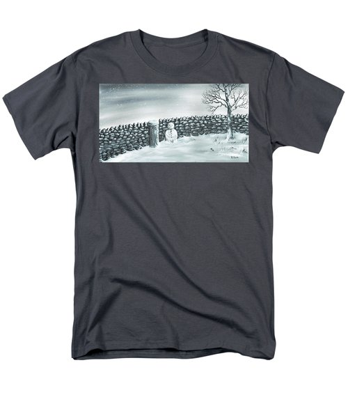 Men's T-Shirt  (Regular Fit) featuring the painting Snow Patrol by Kenneth Clarke