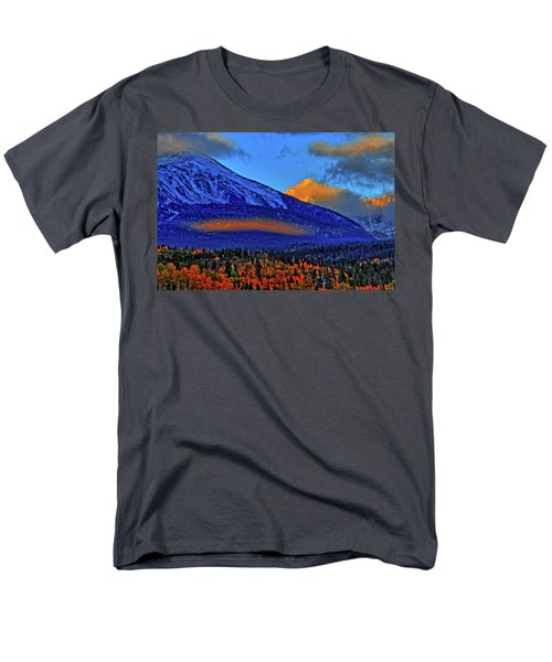 Men's T-Shirt  (Regular Fit) featuring the photograph Snow Peak Fall by Scott Mahon