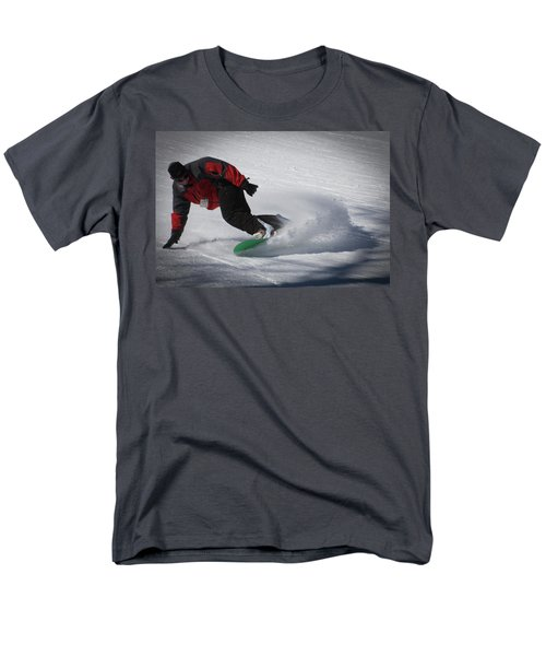 Men's T-Shirt  (Regular Fit) featuring the photograph Snowboarder On Mccauley by David Patterson