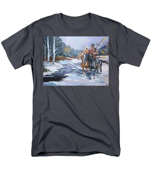Snowbound Hunters Men's T-Shirt  (Regular Fit) by Al Brown