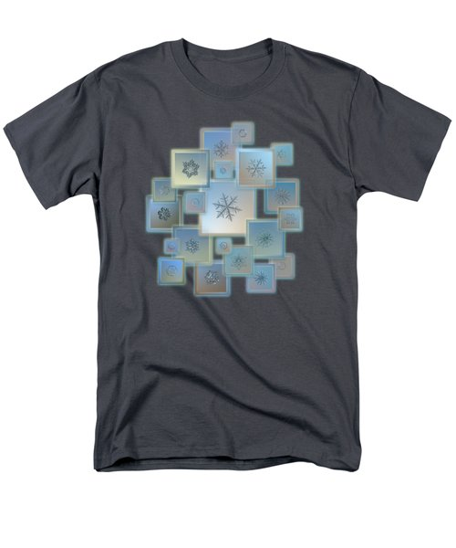 Snowflake Collage - Bright Crystals 2012-2014 Men's T-Shirt  (Regular Fit) by Alexey Kljatov