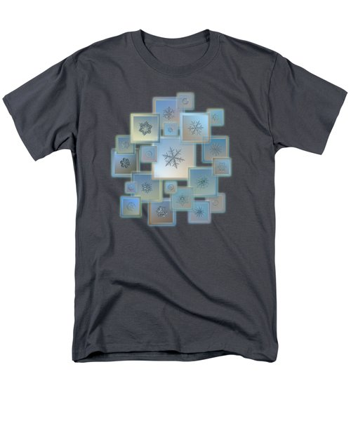 Snowflake Collage - Bright Crystals 2012-2014 Men's T-Shirt  (Regular Fit)