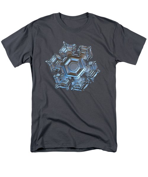 Men's T-Shirt  (Regular Fit) featuring the photograph Snowflake Photo - Cold Metal by Alexey Kljatov