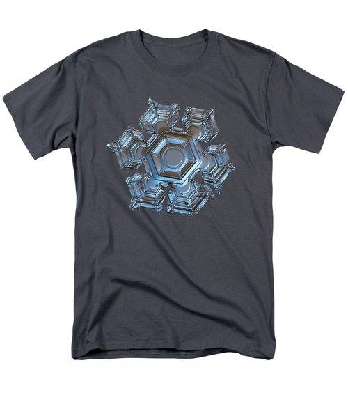Snowflake Photo - Cold Metal Men's T-Shirt  (Regular Fit)