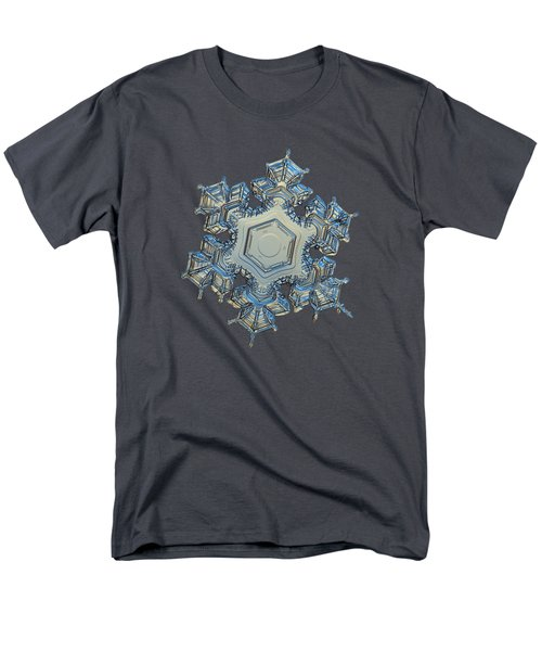 Men's T-Shirt  (Regular Fit) featuring the photograph Snowflake Photo - Iron Crown by Alexey Kljatov