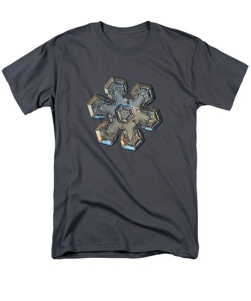 Men's T-Shirt  (Regular Fit) featuring the photograph Snowflake Photo - Massive Gold by Alexey Kljatov