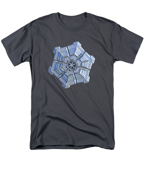 Men's T-Shirt  (Regular Fit) featuring the photograph Snowflake Photo - Winter Fortress by Alexey Kljatov