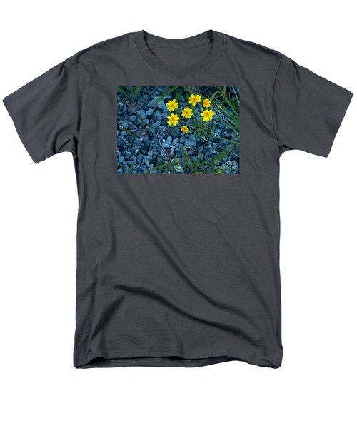 Men's T-Shirt  (Regular Fit) featuring the photograph Snowy Goldeneye-#3094 by J L Woody Wooden