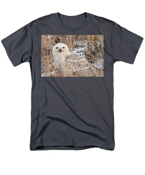Snowy Owl Men's T-Shirt  (Regular Fit) by Nancy Landry