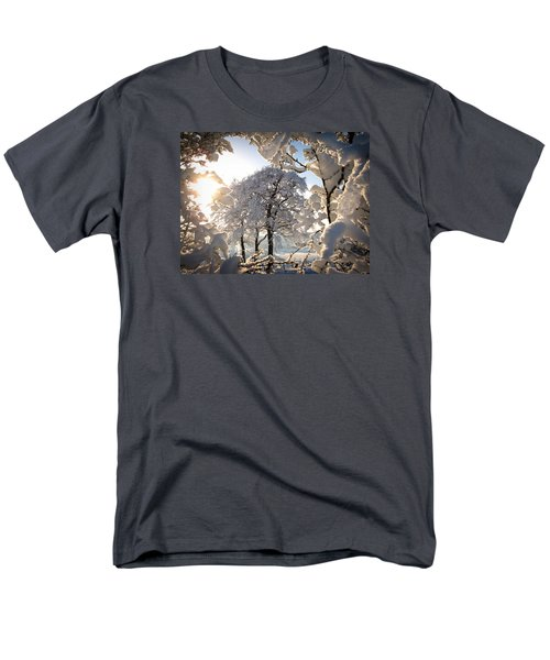 Men's T-Shirt  (Regular Fit) featuring the photograph Snowy Trees by RKAB Works